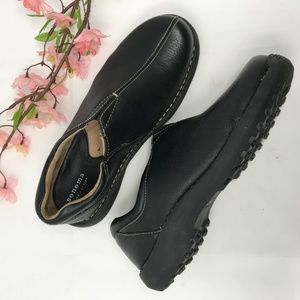 Sonoma Fae Black Leather Walking  Loafers 8.5 WIDE